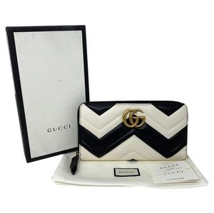 Gucci Bags - Gucci Leather GG Marmont Wallet Card Case Clutch